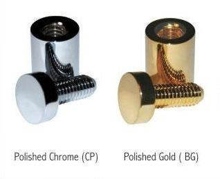 High Quality Sign Spacers - Gold and Chrome
